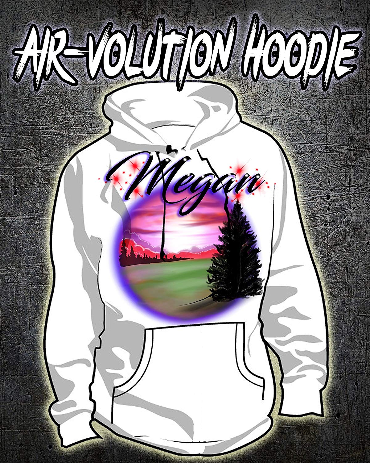 Personalized Airbrush Mountain Landscape Hoodie