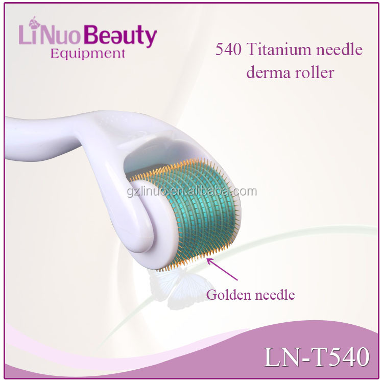 540 titanium derma roller/derma roller system/disk needle therapy derma roller/ Micro Needles for beauty care