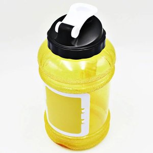 2.5L HALF GALLON PETG TRITAN WATER BOTTLE WITH STORAGE COMPARTMENT BPA FREE/FRUIT MILK WHEY SHAKER BOTTLE