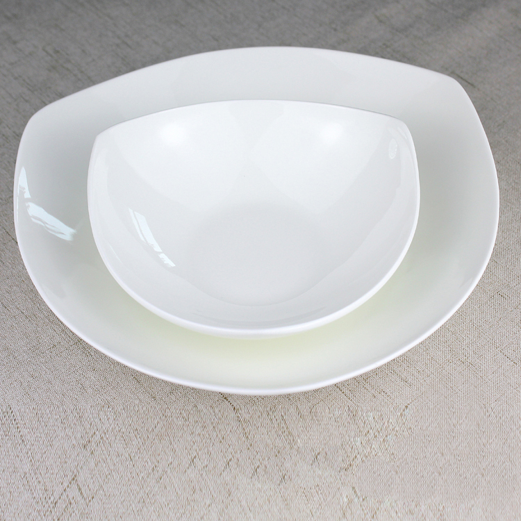 DONG white porcelain dinner plates pasta plates soup bowls compartments tray