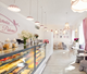 White style Bread Bakery Shop Interior Design display showcase display cabinet for cake shop