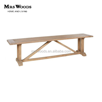 Incroyable French Country Slatted Fir Wood Dining Bench