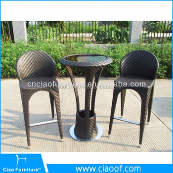 Used metal patio furniture plastic rattan bar stool and round table : bar stool patio chairs - thejasonspencertrust.org