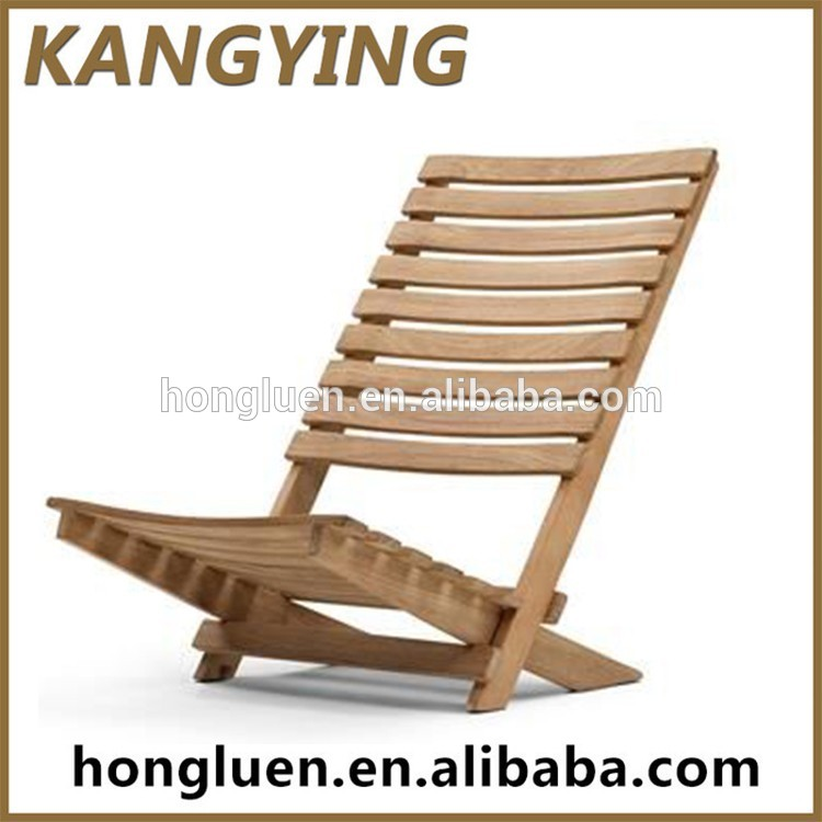 porttil plegable de madera de la lona tumbona silla de playa