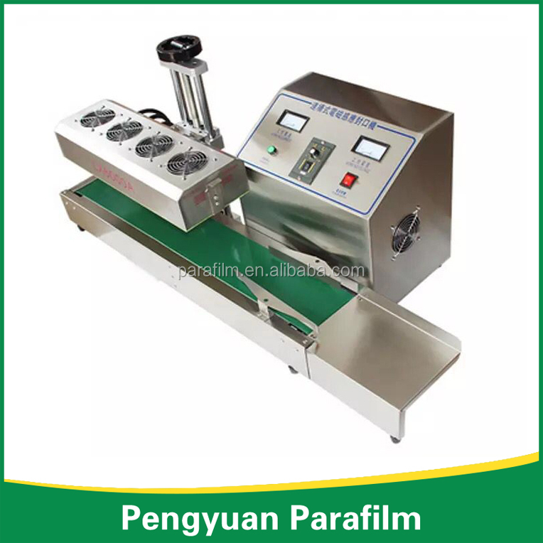 Continuous electromagnetic induction sealing machine / automatic aluminum foil sealing machine / bottle bottle oil drum aluminum