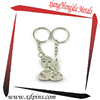 couple puzzle metal ring oem key chain/Couples Wedding Gift Metal Key Chain
