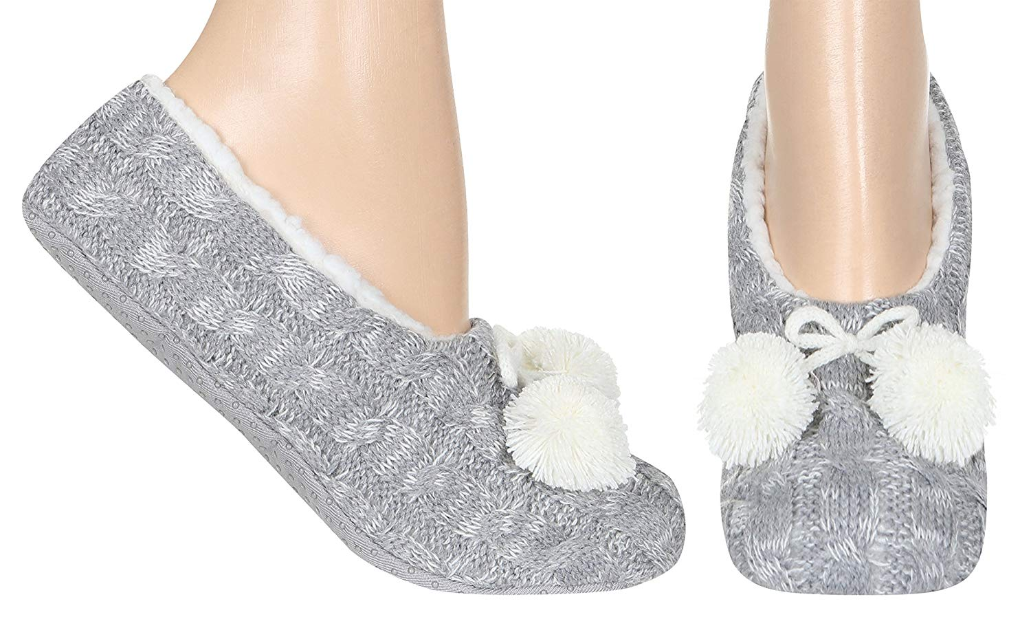 Capelli New York Ladies Swirled Bunny Fur Pull On With Grippers