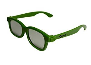 Ultra by EasyPeasyStore 1 Pair of Green Childrens Passive 3D Glasses for Kids Universal for Passive TVs Cinema & Projectors Such as RealD Toshiba LG Panasonic
