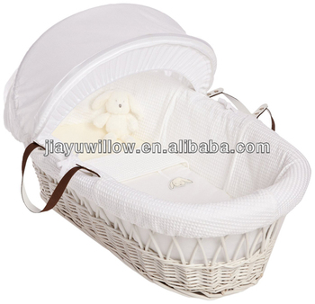 Natural wicker bassinet baby carry basket