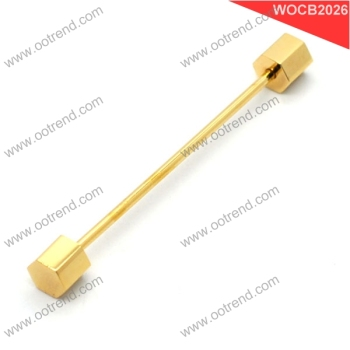 Wholesale golden hexangular head collar pin collar bar