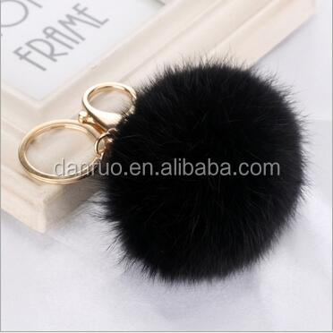 A large number of rabbit hair ball ornament 8 cm fur accessories auto mobile phone accessories cute plush bag pendant