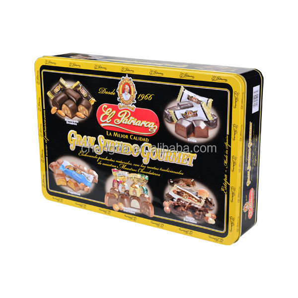 Rectangle Metal Packaging Can Chocolate/Cookies Packing Box With Colorful Printing And Embossing CD-230