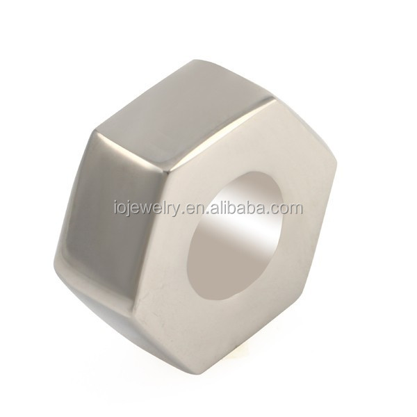 Surgical stainless steel beads Hexagon beads