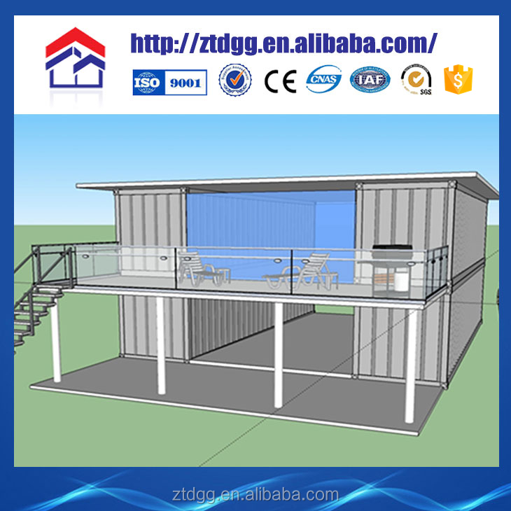 Container house with ceiling corner bead