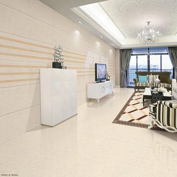 Non Slip Spanish Crema Marfil Porcelain 60x60 High Gloss Floor Tile