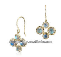 Labradorite Drop Earrings cheap philippine gold filled jewelry