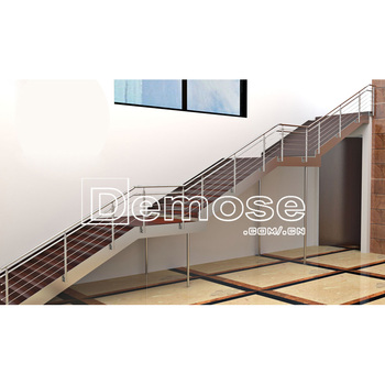 Customized Demose Metal Stair Handrail Wall Mounted