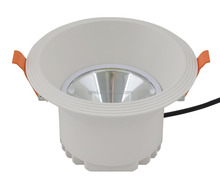 White housing round Fixed COB LED down light 12W CE&ROHS 3 years warranty