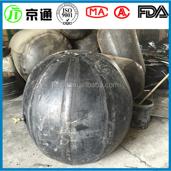 jingtong rubber China inflatable spherical rubber core mold for precast concrete