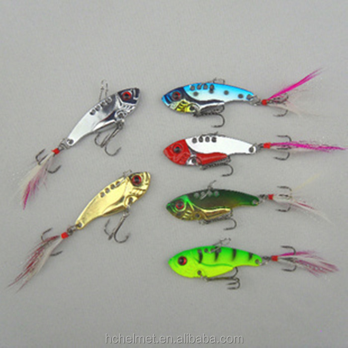 Hot 12g 5.5cm Metal Hard Baits Spoon Metal VIB Lures Sequins Fish Hard Bait Spoon Bass Vibration Lure