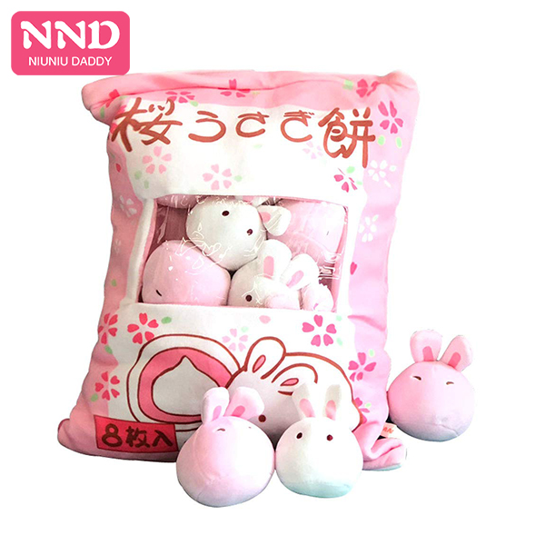 Niuniu Daddy Mini Plush Animal Toy Stuffed Snack Pillow Unicorn Dinosaur <strong>Rabbit</strong> High Quality Kids Christmas 5Style For Baby Gift