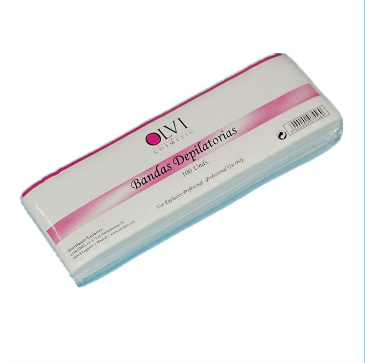 Depilatory Wax Strips แถบแว็กซ์ทิ้ง Nonwoven Wax Strips