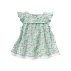 children fancy flower printing girl dress