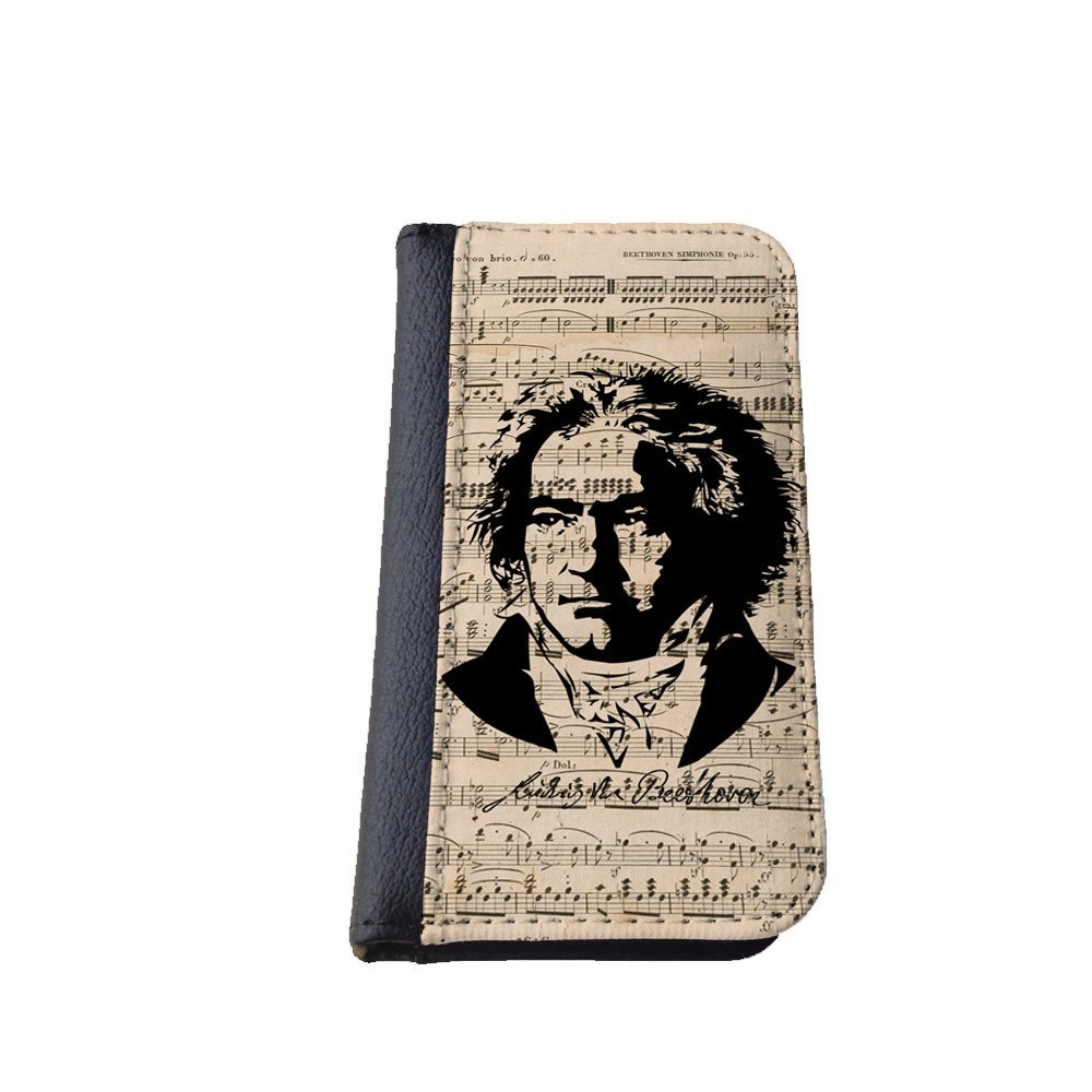 iPhone 5 Flap Case, Sheet music, Ludwig van Beethoven Design iPhone 5s Flip Case, Pocket Case, Wallet Case, Book Style Case, Bi-Fold Case, Proudly Made in the USA