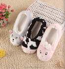 2017 New Warm Flats Soft Sole Women Indoor Floor Slippers/Shoes Animal Shape White Gray Cows Pink Flannel Home Slippers.