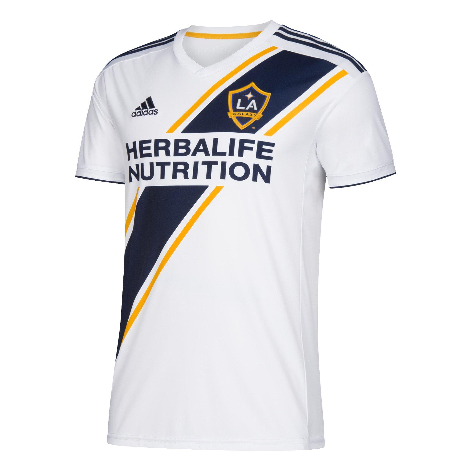 e57fe3437 Get Quotations · adidas MLS LA Galaxy Home Soccer Stadium Jersey 2018