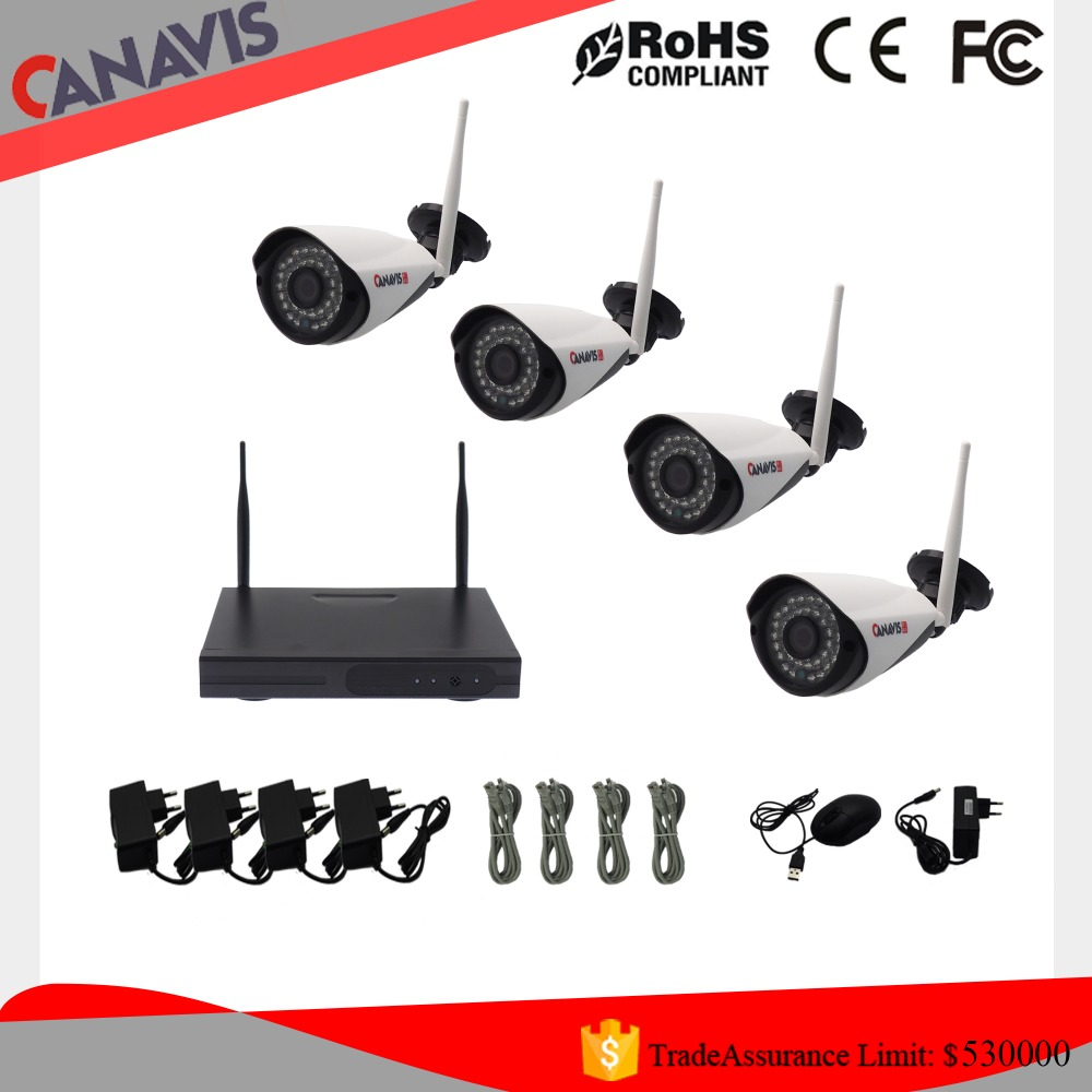 cctv security system 720P cctv ip camera 4ch outdoor wireless nvr kit