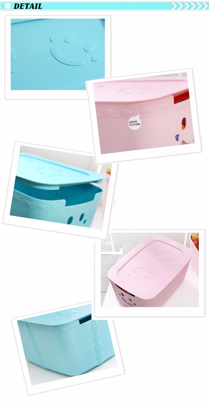 Fashion Cheap Rimless Plastic Storage Box Plastic 5