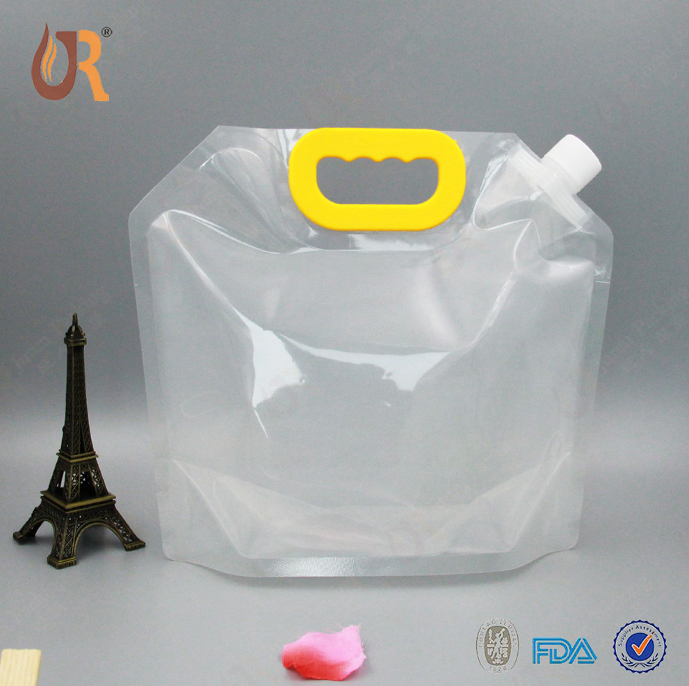 5L Outdoor Emergency Drink Water Tank Storage Bags clear stand up plastic spout pouches