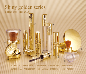 wholesale gold modern empty cosmetic packaging Makeup Kits cosmetic set