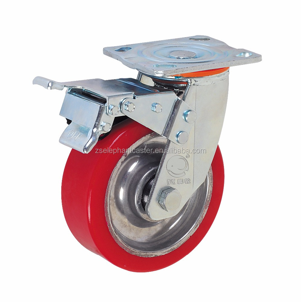"8"" heavy duty swivel caster <strong>wheel</strong> with total brake"