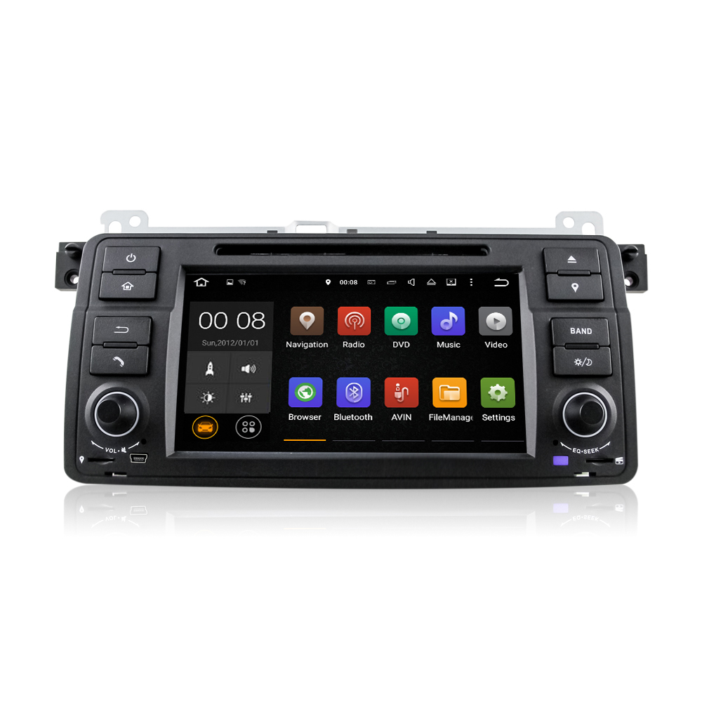Winmark Newest <strong>Android</strong> 5.1 Car Audio DVD Player Stereo Quad Cord 7 Inch 1 Din For BMW Old 3 Series E46 (1998 - 2006) DU7062