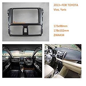 Autostereo Toyota Two Din Car Radio fascia Facia Panel Adapter for TOYOTA Vios Yaris 2013+ Car Radio Stereo fascia TOYOTA Vios Yaris Stereo Fascia Dash CD Trim Installation Kit