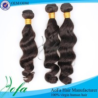 2015 no lice natural color human hair weft Indian wave hair weaving 12