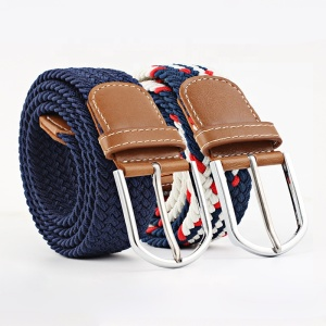 Amazon Canvas Elastic Fabric Woven Stretch Multicolored Braided Belts