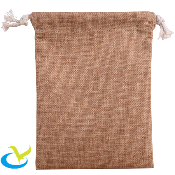 Stylish small wholesale hemp bag drawstring