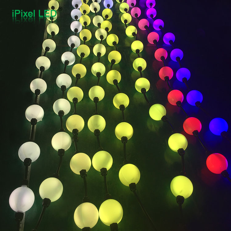 full color 50mm Diameter 360 Degree pixel ball amusement funfair ride led cap led moon light ball