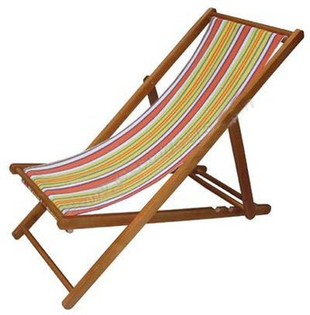 Portable Lightweight Folding Deck Chair For Camping And Beach