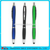 Advertising touch screen pens with logo metal clip plastic ball point pen