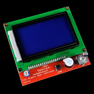 LCD 12864 Graphic Smart Display Controller module with connector adapter & cable for RepRap RAMPS 1.4 3D Printer kit