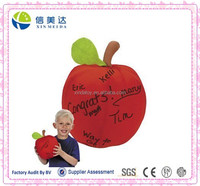 Novelty Plush Toys Plush Autograph Apple Best Teacher Gift