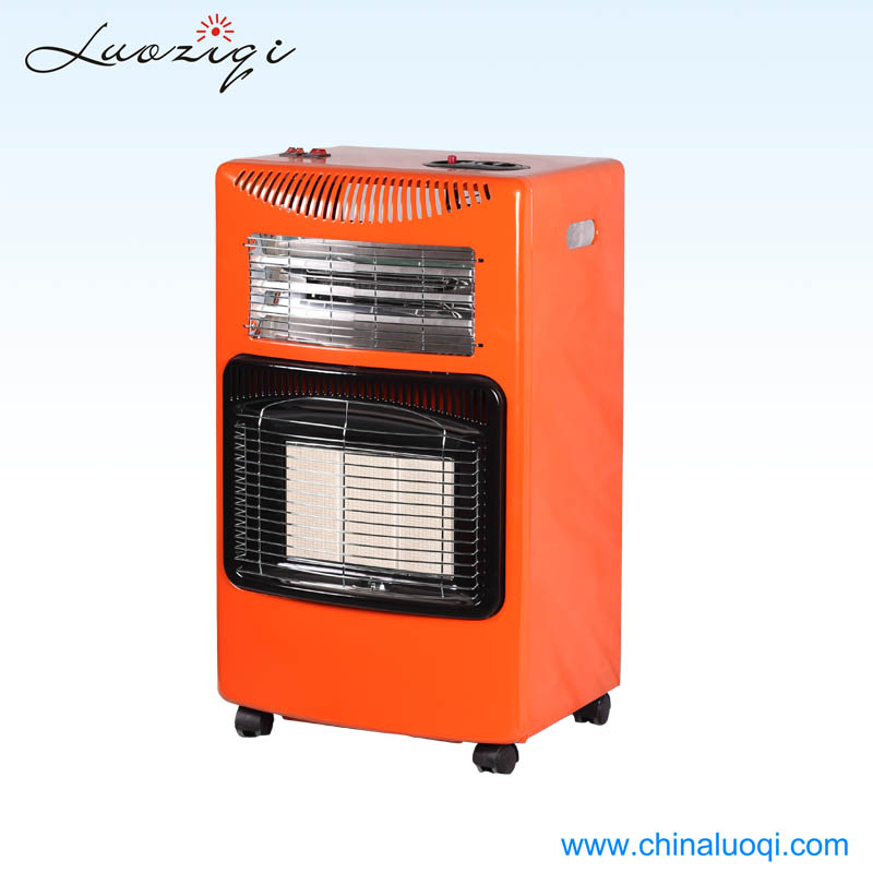 Adjustable thermostat portable bedroom gas heater