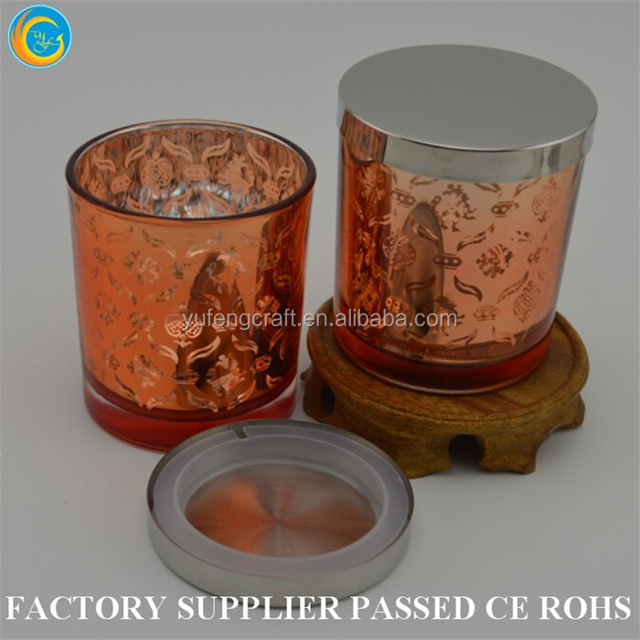 copper concrete candle jar thick glass candle holders laterns home deco