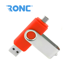 Red color Swivel 2 in 1 otg cheap price bulk mobile phone usb flash custom logo swivel usb flash