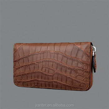 Fashion trendy crocodile leather clutch wallet for women High-end customize design your own wallet