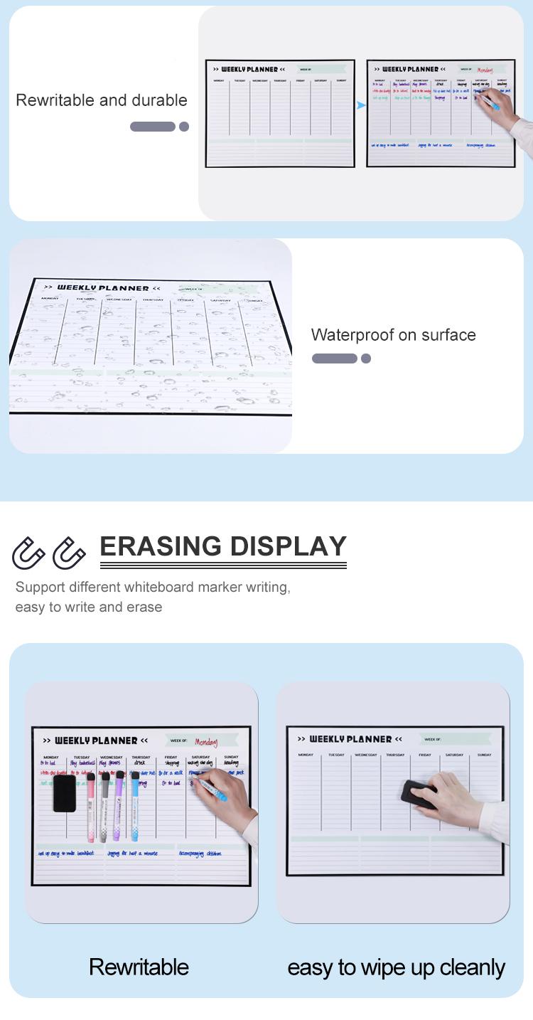 Горячая продажа многоразовый Магнитный сухой ластик календарь Ежемесячный план магнит на холодильник магнитный холодильник календарь набор